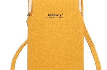 JTF86012-yellow Tas Dompet Selempang Handphone BAELLERRY Terbaru