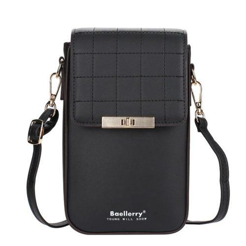 JTF8612-black Tas Dompet Handphone Selempang BAELLERRY Wanita