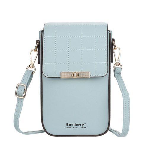 JTF8612-lightblue Tas Dompet Handphone Selempang BAELLERRY Wanita