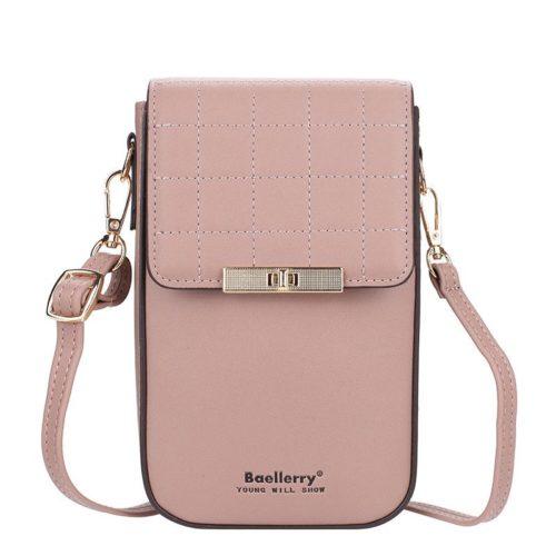 JTF8612-pink Tas Dompet Handphone Selempang BAELLERRY Wanita