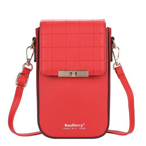 JTF8612-red Tas Dompet Handphone Selempang BAELLERRY Wanita