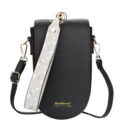 JTF8613-black Tas Handphone Selempang BAELLERRY Wanita Cantik