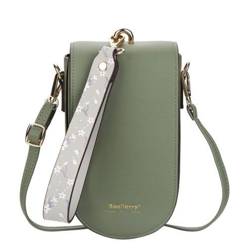JTF8613-green Tas Handphone Selempang BAELLERRY Wanita Cantik
