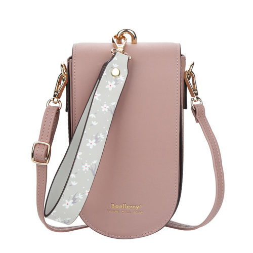 JTF8613-pink Tas Handphone Selempang BAELLERRY Wanita Cantik