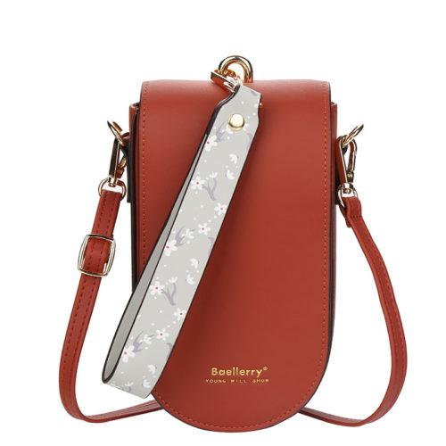 JTF8613-red Tas Handphone Selempang BAELLERRY Wanita Cantik