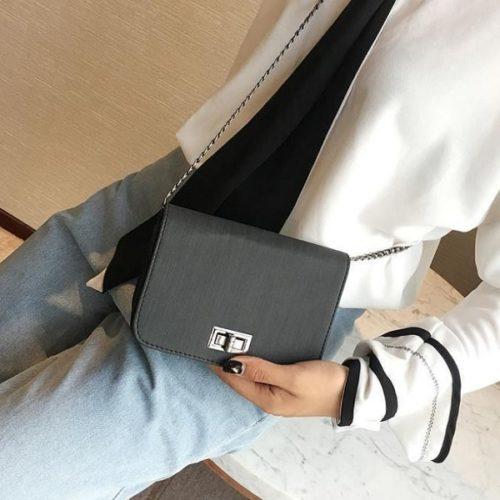 JTF8779-darkgray Tas Selempang Mini Import Cantik