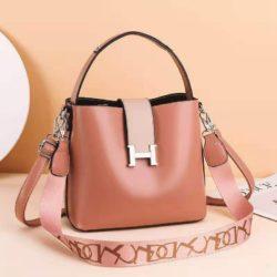 JTF88071A-pink Tas Selempang Wanita Elegan Import Terbaru