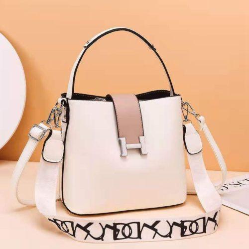 JTF88071A-white Tas Selempang Wanita Elegan Import Terbaru