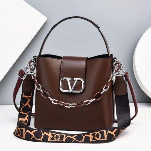 JTF88101-coffee Tas Handbag Selempang Wanita Cantik Import
