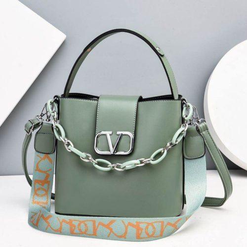 JTF88101-green Tas Handbag Selempang Wanita Cantik Import