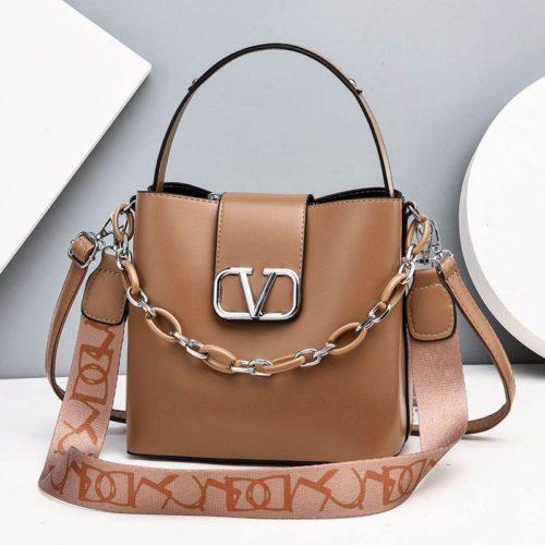 JTF88101-khaki Tas Handbag Selempang Wanita Cantik Import