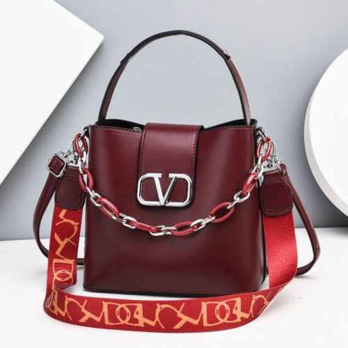 JTF88101-wine Tas Handbag Selempang Wanita Cantik Import