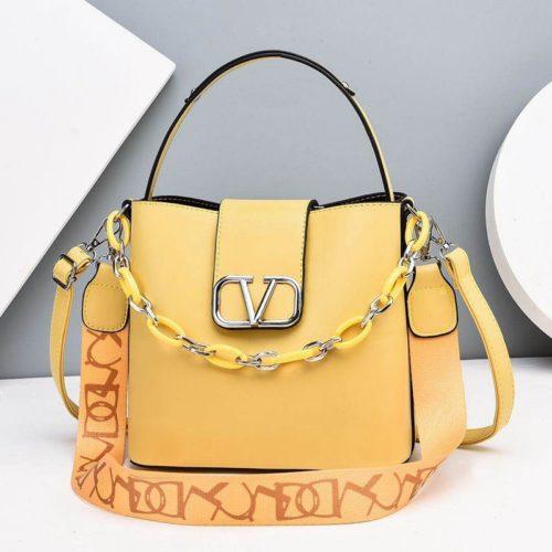 JTF88101-yellow Tas Handbag Selempang Wanita Cantik Import