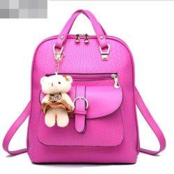 JTF8873-rose Tas Ransel Import Wanita Cantik Gantungan Boneka