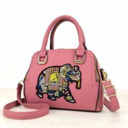 JTF91667-darkpink Tas Handbag Selempang Wanita Modis Import