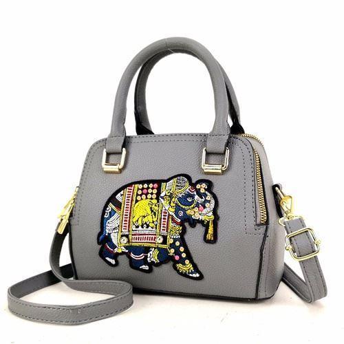 JTF91667-gray Tas Handbag Selempang Wanita Modis Import