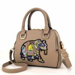 JTF91667-khaki Tas Handbag Selempang Wanita Modis Import