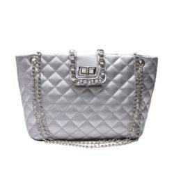 JTF9502-silver Tas Selempang Fashion Import Wanita Terbaru