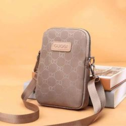 JTF9935-khaki Tas Sling Bag Handphone GD Stylish Wanita Cantik