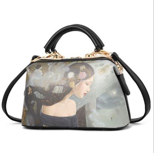 JTF99872-longhair Doctor Bag Wanita Elegan Cantik Import
