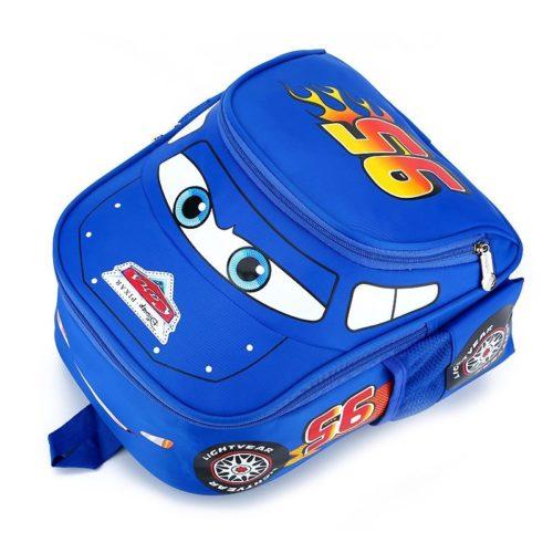JTF999-lightblue Tas Ransel Anak Keren Motif Cars