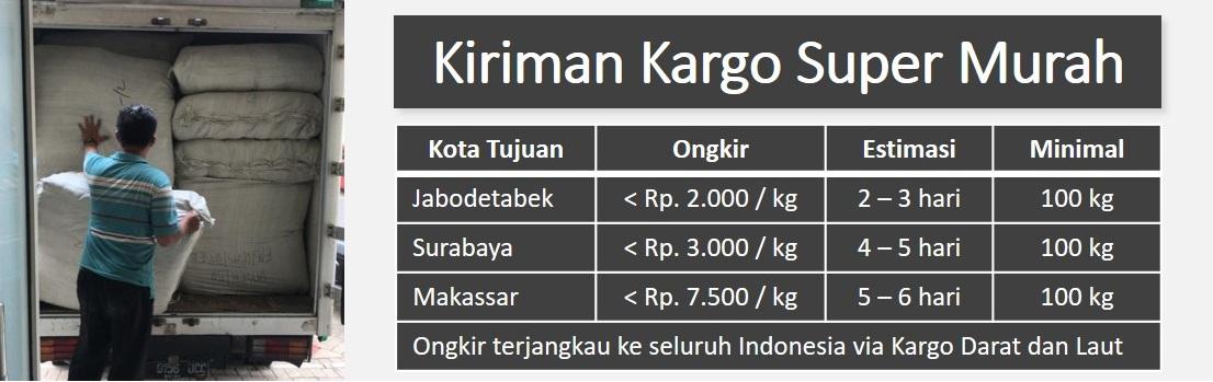 Ongkir Kargo Super Murah ke seluruh Indonesia - Tas.ID