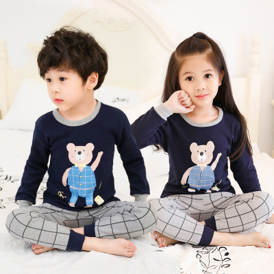 PJ071-bluebear Baju Tidur Set Anak Motif Karakter Unisex