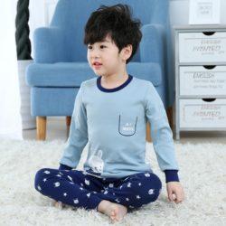 PJ071-bluerabbit Baju Tidur Set Anak Motif Karakter Unisex