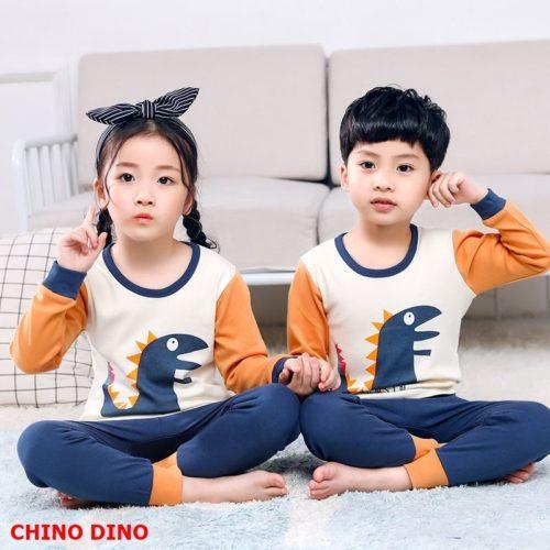 PJ071-chinoindo Baju Tidur Set Anak Motif Karakter Unisex