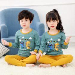 PJ071-dragon Baju Tidur Set Anak Motif Karakter Unisex