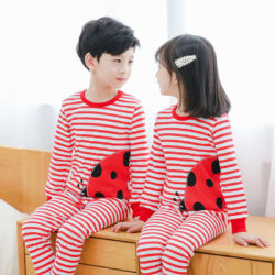 PJ071-ladybug Baju Tidur Set Anak Motif Karakter Unisex