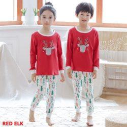 PJ071-redelk Baju Tidur Set Anak Motif Karakter Unisex