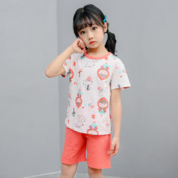 PJ09192-littleriding Baju Set Casual Anak Bahan Cotton Unisex