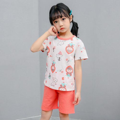 PJ09192-littleriding Baju Set Casual Anak Bahan Cotton Unisex