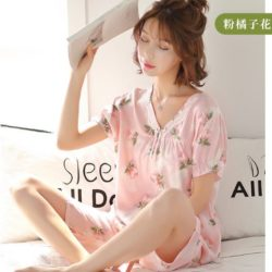 PJ4601-pinkorange Piyama Wanita Cantik Import Terbaru