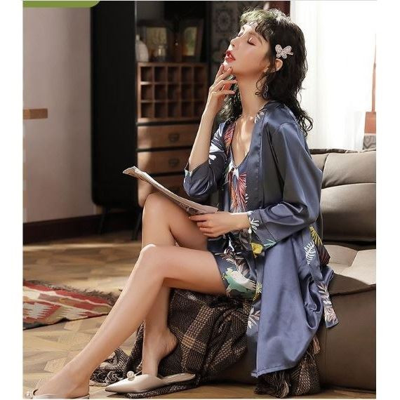 PJ4602 (2IN1) IDR.105.000 MATERIAL ARTIFICIAL SILK SIZE M,L WEIGHT 250GR COLOR BLUELEAF