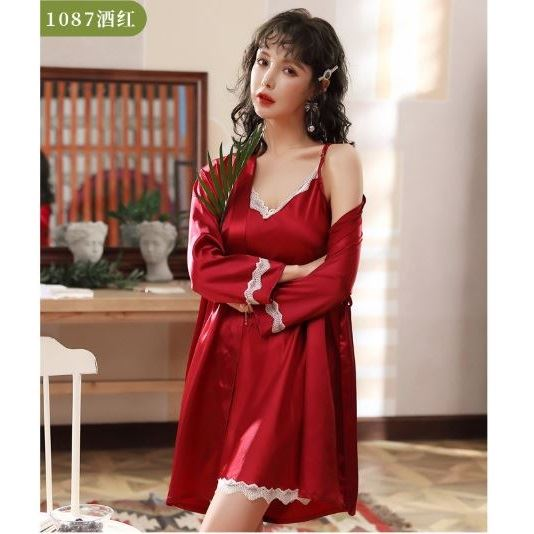 PJ4602 (2IN1) IDR.105.000 MATERIAL ARTIFICIAL SILK SIZE M,L,XL WEIGHT 250GR COLOR RED