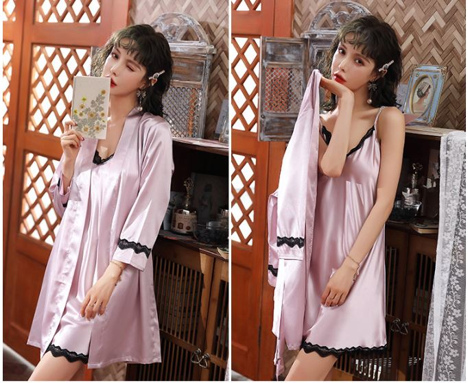 PJ4602 (2IN1) IDR.105.000 MATERIAL ARTIFICIAL SILK SIZE M,L,XL WEIGHT 250GR COLOR SKINTONE