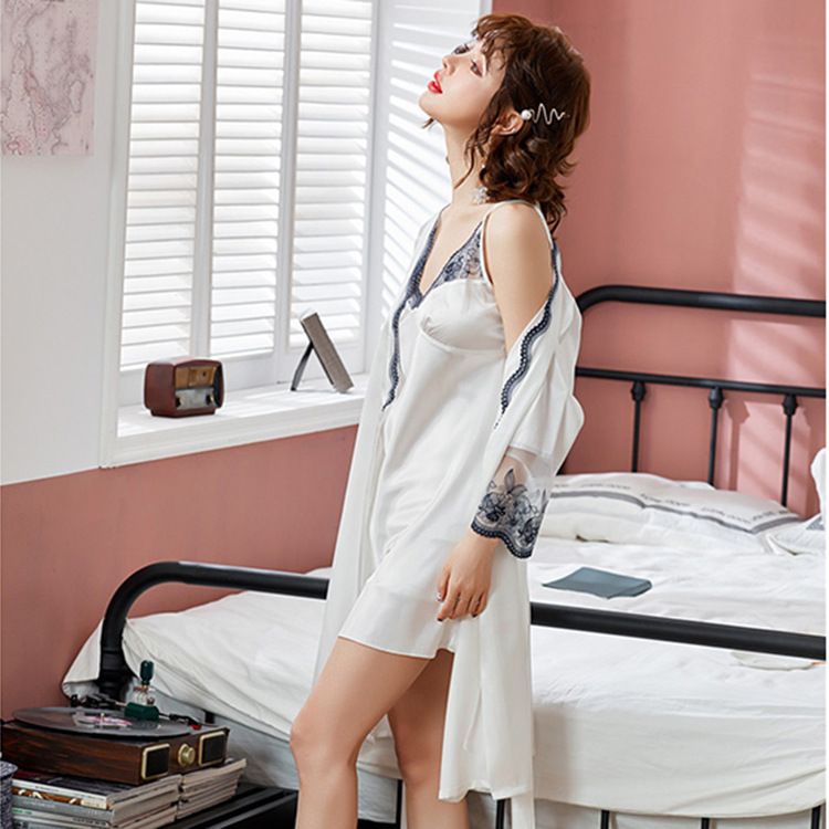PJ4602 (2IN1) IDR.105.000 MATERIAL ARTIFICIAL SILK SIZE M,L,XL WEIGHT 250GR COLOR WHITELACE