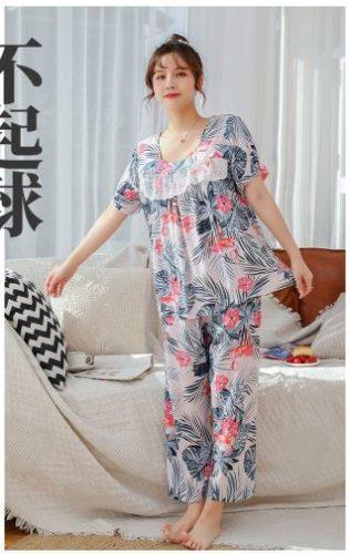 PJ4603-grayleaf Baju Tidur Wanita Cantik Nyaman Import Terbaru