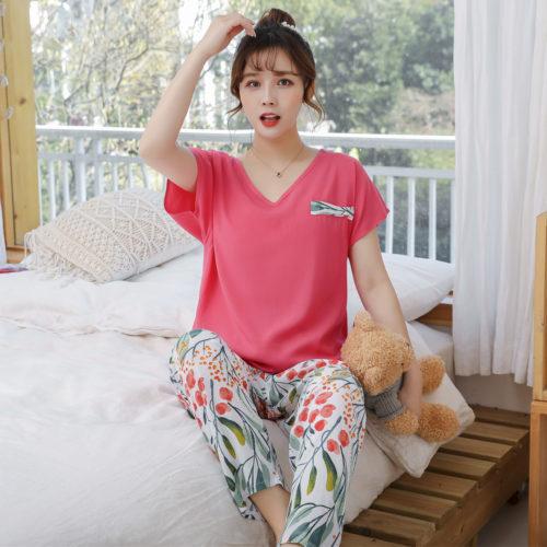 PJ4603-roseleaf Baju Tidur Wanita Cantik Nyaman Import Terbaru