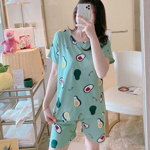 PJ4606-avocado Piyama Wanita Imut Comfy (Tanpa Pouch)