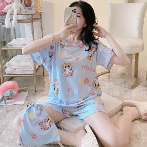PJ4606-bluedaisy Piyama Wanita Imut Comfy (Tanpa Pouch)