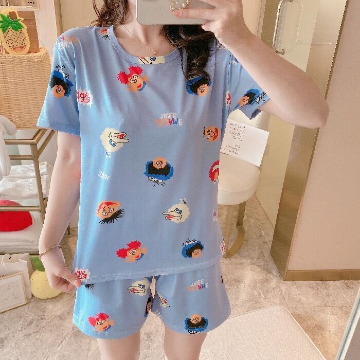 PJ4606 IDR.58.000 MATERIAL MILKSILK SIZE M,L,XL WEIGHT 200GR COLOR BLUESESAME