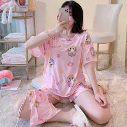 PJ4606-pinkdaisy Piyama Wanita Imut Comfy (Tanpa Pouch)