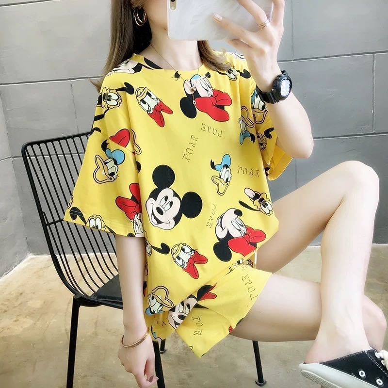 PJ4606 IDR.58.000 MATERIAL MILKSILK SIZE M,L,XL WEIGHT 200GR COLOR YELLOWMICKEY
