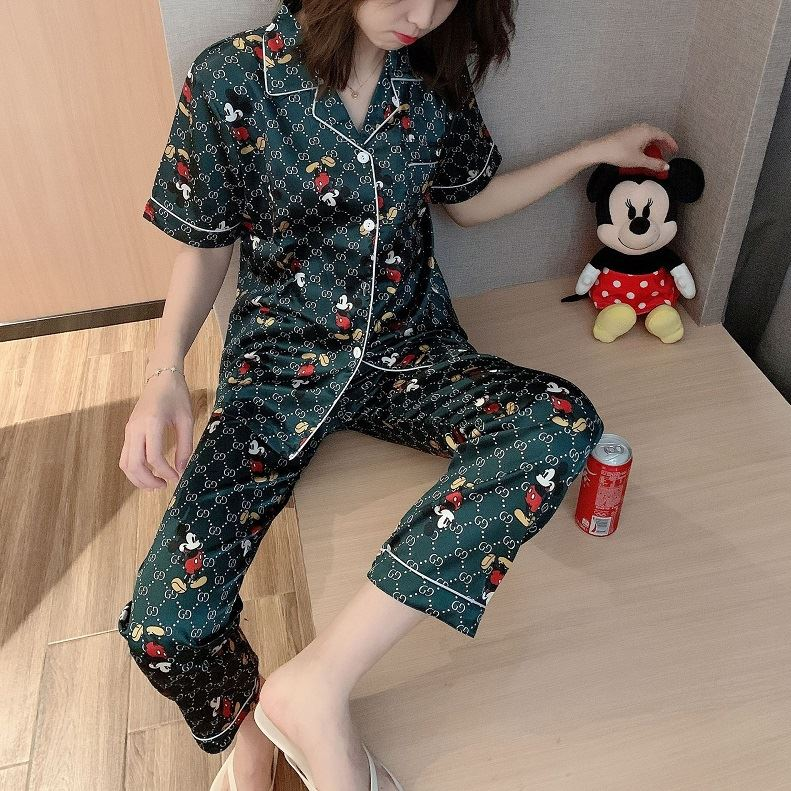 PJ4607 IDR.95.000 MATERIAL ICESILK SIZE L,XL WEIGHT 200GR COLOR GREENMICKEY