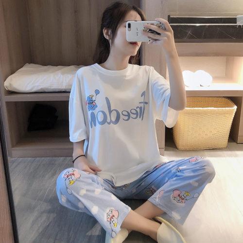 PJ4609-dumbo Baju Tidur Set Wanita Cantik Imut Terbaru