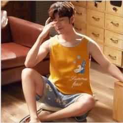 PJ4613-manyellow Baju Santai Couple Comfy Man