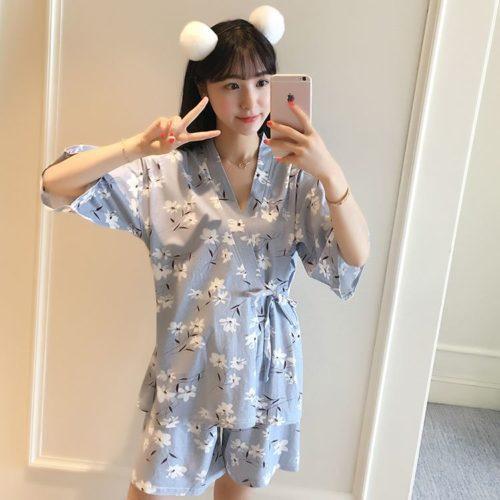 PJ4616-flowers Baju Tidur Wanita Cantik Bahan Lembut